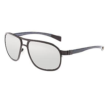 Breed Concorde Titanium and Carbon Fiber Polarized Sunglasses - Gunmetal/Silver