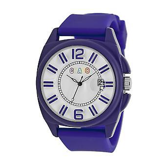 Crayo Sunset Unisex Watch w/Magnified Date - Purple