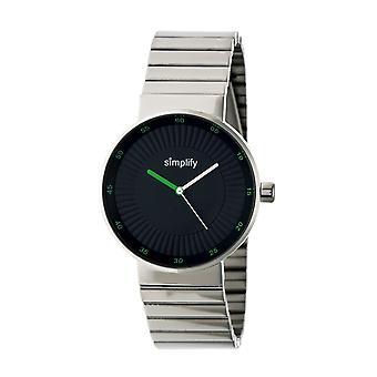Simplify The 4600 Bracelet Watch - Silver/Olive
