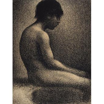 The Choose Teenager, Georges Seurat, 50x38cm