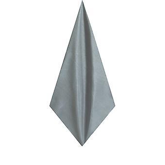 Dobell Herre sølv lomme firkantet lommetørklæde Dupion Satin-Feel stof