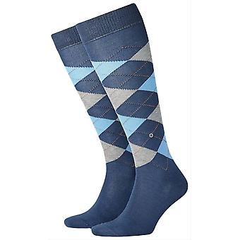 Manchester Burlington chaussettes haute de genou - Blue/Light Blue
