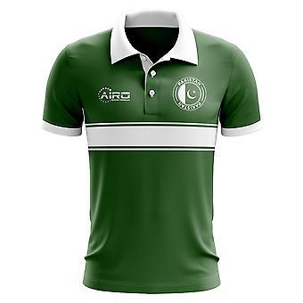 Pakistan Concept Stripe Polo Shirt (Green)