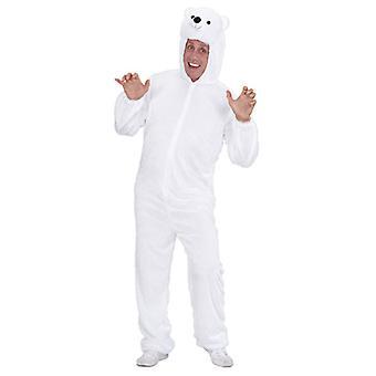 Plys isbjørn (hætteklædte buksedragt med maske)