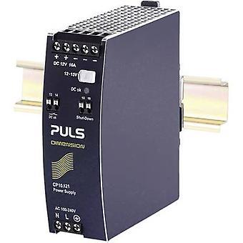 PULS CP10.121 Rail mounted PSU (DIN) 12 V DC 16 A 192 W 1 x