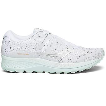 Saucony Womens Ride ISO Running Scarpe - White Noise Edition - Cushioning neutro