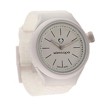 Wize and Ope Club  White Shuttle Watch SH-CL-4S