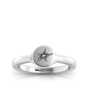 Dallas Stars Engraved Sterling Silver Signet Ring