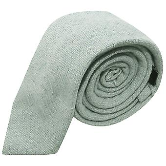 Mint Green Herringbone Tie
