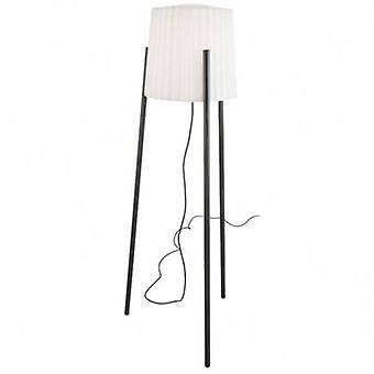 1 Light Adjustable Outdoor Floor Lamp Urban Grey With White Shade Ip65