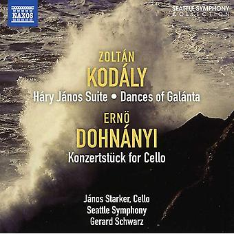 Kodaly/Dohnanyi - Kod Ly: H Ry J Nos Suite; Dances of Gal Nta; Dohn Nyi: Konzertst Ke for Cello [CD] USA import