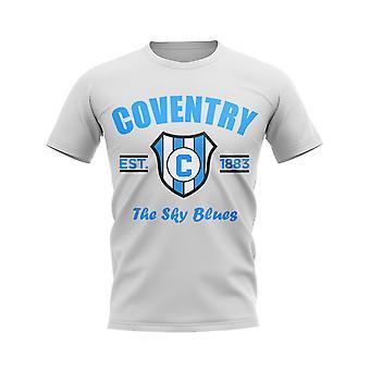 Coventry perustettiin jalka pallo T-paita (valkoinen)