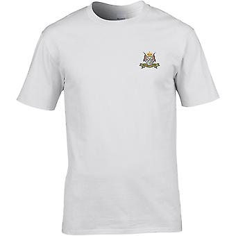 16th 5th Queens Royal Lancers farve-licenseret British Army broderet Premium T-shirt