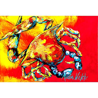 Carolines Treasures  MW1086PLMT Crab Hot Dang Fabric Placemat