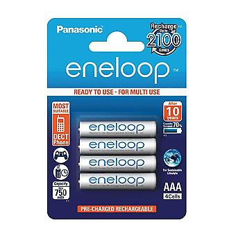Panasonic Eneloop AAA Micro 750mAh Eneloop NiMH Ready to Use Rechargeable Battery BK-4MCCE (4 Classic Batteries)