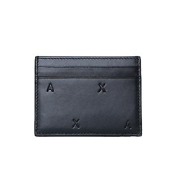 Armani Exchange Bifold Black Card Halter