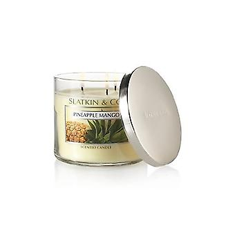 Bad & Body Works ananas mango 3 Wick duftende stearinlys 14,5 oz/411 g