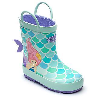 Chipmunks Girls Splash Wellingtons Aqua