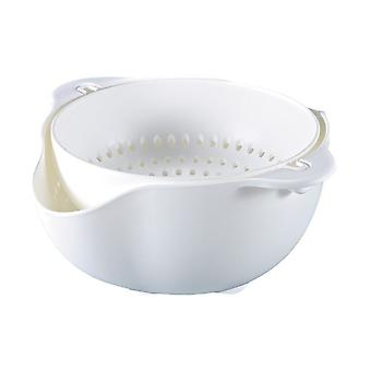 Rotating colk and bowl-white