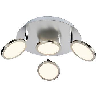 GENIALNA lampa HARLIE LED Spotrondell 4flg niklu matowy I głowy obrotowe I Energooszczędne i trwałe dzięki zastosowaniu diody LED