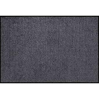 Salon Leeuw wasbaar antraciet mat 60 x 85 cm deurmat vuil overlapping pad