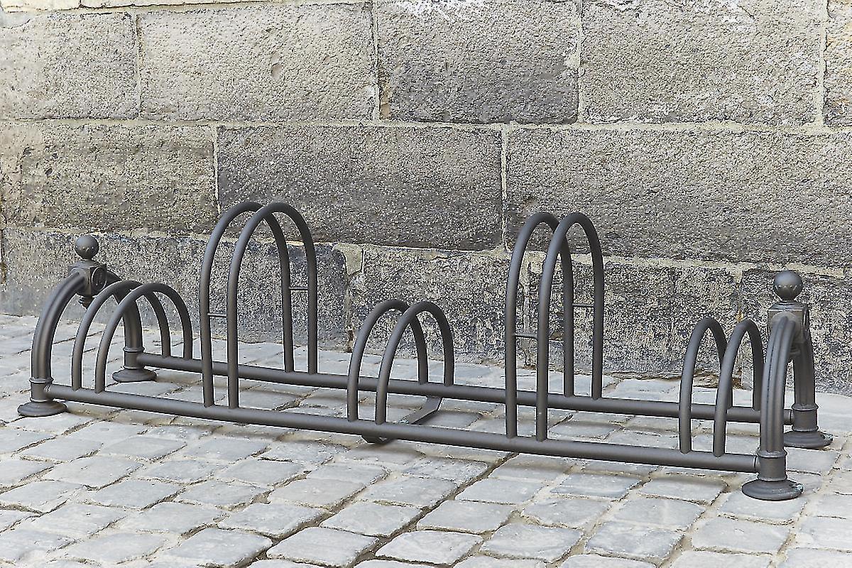 Mottez-fietsenrek & quot; Versailles II & quot; zwart (5 fietsen)