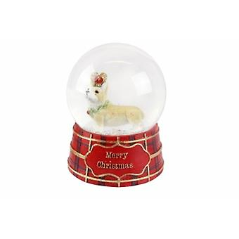 Gisela Graham Corgi with Crown Musical Snowdome