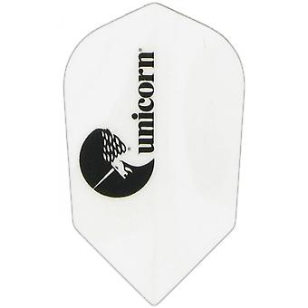 Unicorn Darts Maestro.100 Micron Logo Ultra Durable Slim Dart Flight - White