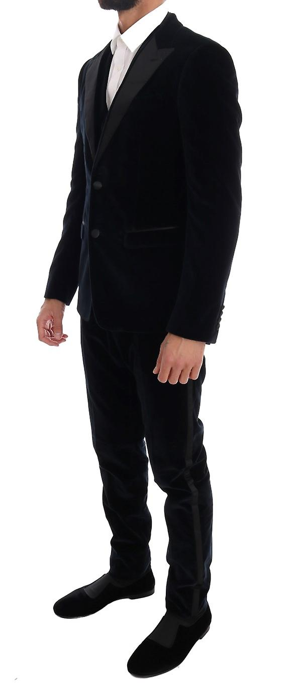 Blue Velvet Stretch Slim Two Button Suit
