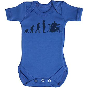 Evolution To A Drummer - Baby Bodysuit