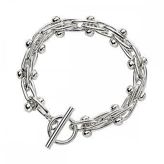 Beginnings Sterling Silver Mexican Style Ball And Bar Bracelet B5195