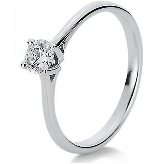 Diamond Ring Ring-14K 585 witgoud-0,31 CT.