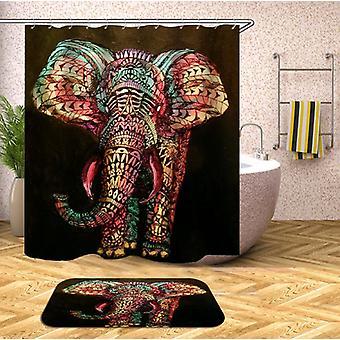 Tende per la doccia dell'elefante orientale colorato