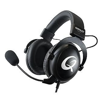 QPAD Stereo Gaming Headset Closed Ear Noise Cancelling detachable Microphone