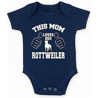 Body neonato blu navy gen0455 this mom loves her rottweiler