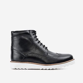 Mens redfoot gareth black wedge boot