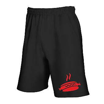 Black tracksuit shorts wes0246 hot dog silhouette