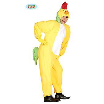 Costume del pollo per adulto unisex Carnevale Carnevale animali gallina pollo giallo