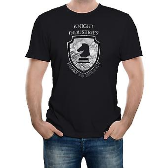 Realtà glitch Knight Industries mens t-shirt