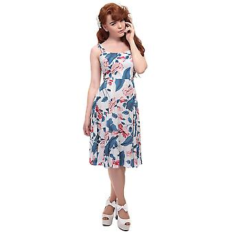 Collectif Vintage Women's  Blue Janie Kalea Hibiscus Doll Dress