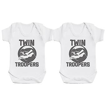 Twin Troopers, Baby Gift, Baby Boy Gift, Baby Girl Gift, Baby Boy Bodysuit, Baby Girl Bodysuit
