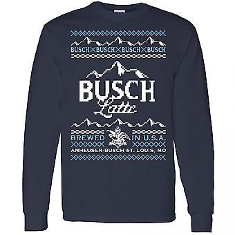 Busch Latte Ugly Christmas Sweater Design Long Sleeve Shirt