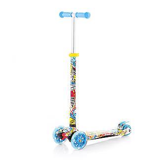 Chipolino lasten skootteri Croxer Evo 3 pyörät korkeus säädettävissä valot