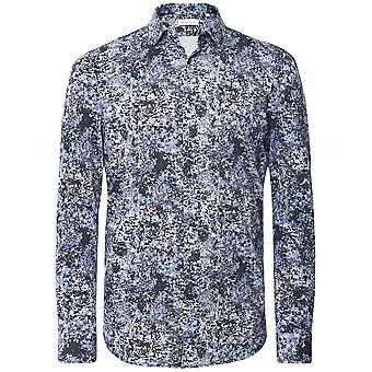 Baldessarini Cotton pique camisa abstrata