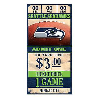 Wincraft NFL Holzschild TICKET Seattle Seahawks 30x15cm