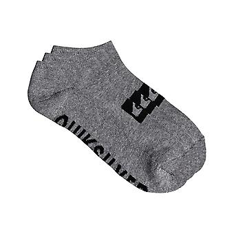 Quiksilver 3 Ankle Pack Ankle Socks in Light Grey Heather