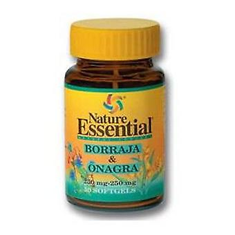 Nature Essential Borage and Evening Primrose Oil 500 mg. 50 Pearls