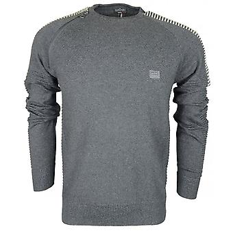 883 Police Dral Cotton Charcoal Knitwear Jumper