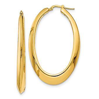 14k Polished Hoop Earrings Jewelry Gifts for Women - 7.1 Grams