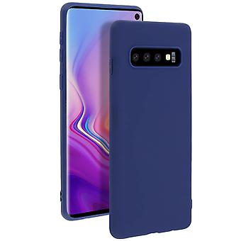 Case for Samsung Galaxy S10, soft touch cover, silicone case – Blue